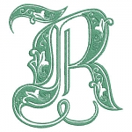 Royal Green Monogram Letters
